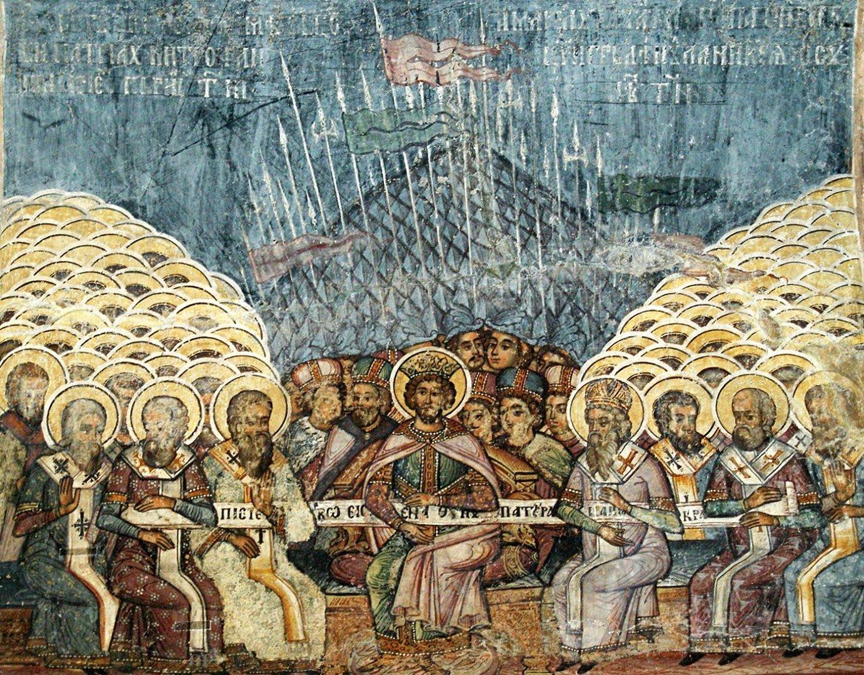 Первый Вселенский собор. Румынская фреска. Медиапроект s-t-o-l.com