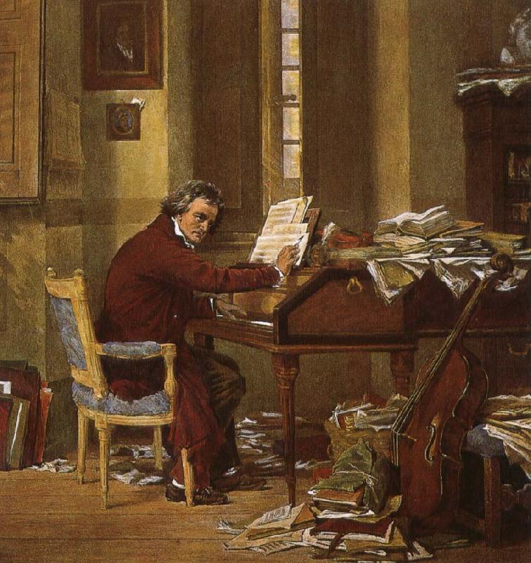 Бетховен за работой дома Медиапроект s-t-o-l.com