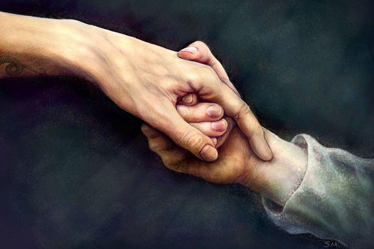Если мужчина берет руку в свои ладони
