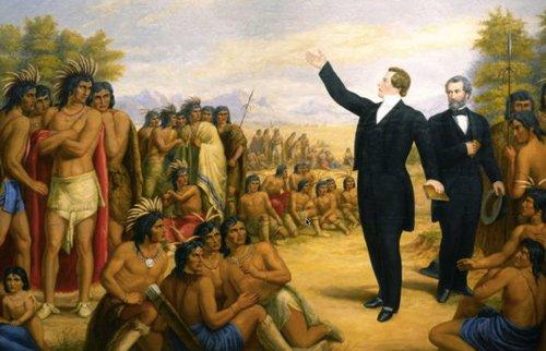 Джозеф Смит проповедует индейцам. Уильям Армитидж Медиапроект s-t-o-l.com