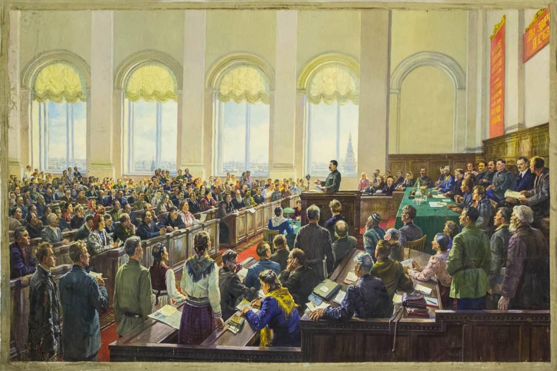 Сталин и делегаты Второго Всесоюзного съезда колхозников-ударников труда 1935 года