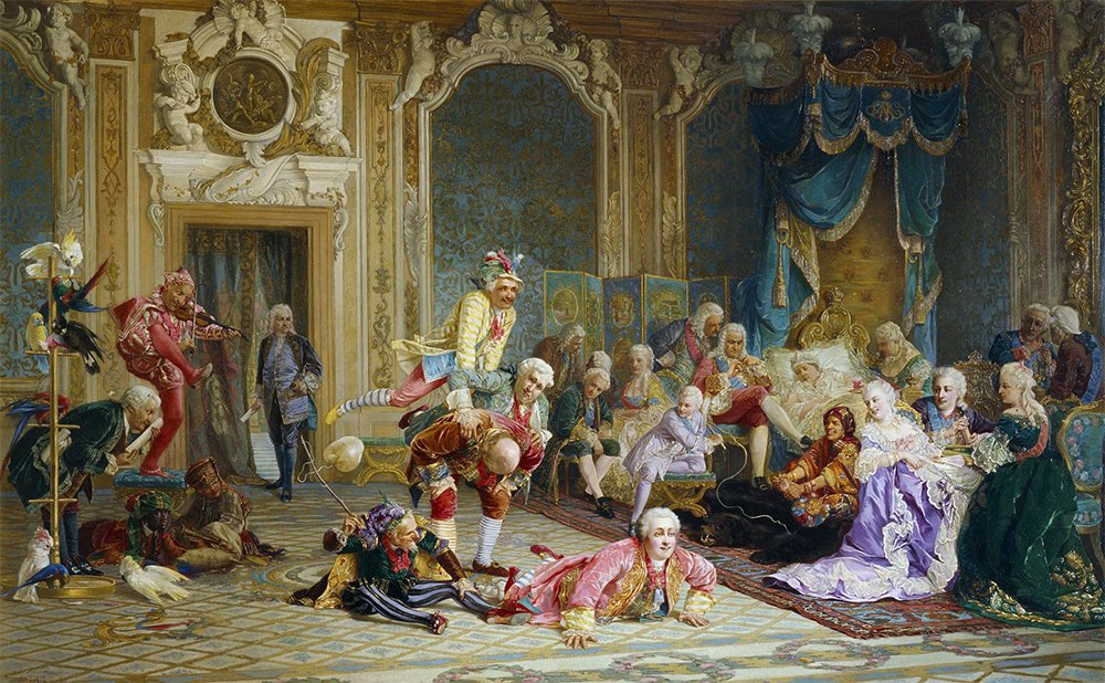 Валерий Якоби. Шуты при дворе императрицы Анны Иоанновны. 1872 год Медиапроект s-t-o-l.com