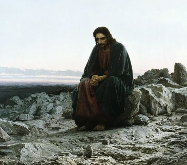крамской Христос в пустыне Медиапроект s-t-o-l.com