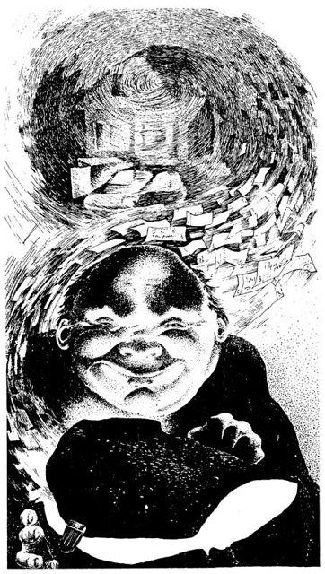 """Я. С. Ашмарина. Иллюстрация к роману Стругацких """"Отягощенные злом"""" Медиапроект s-t-o-l.com"""
