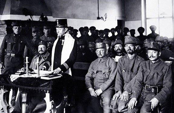 Войсковой равин проводит службу для еврейских солдат австро-венгерской армии Медиапроект s-t-o-l.com