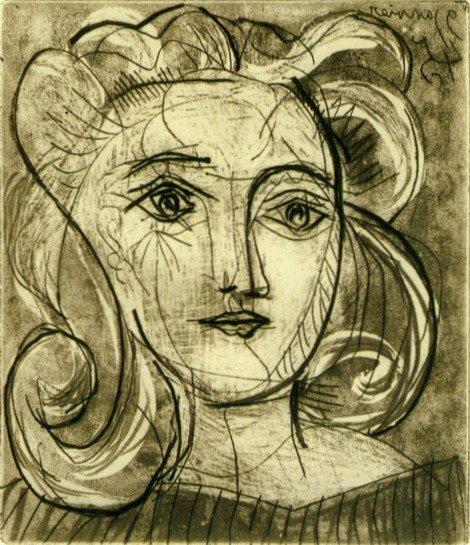 Голова женщины (Франсуаза Жило) 3, 1945 Медиапроект s-t-o-l.com
