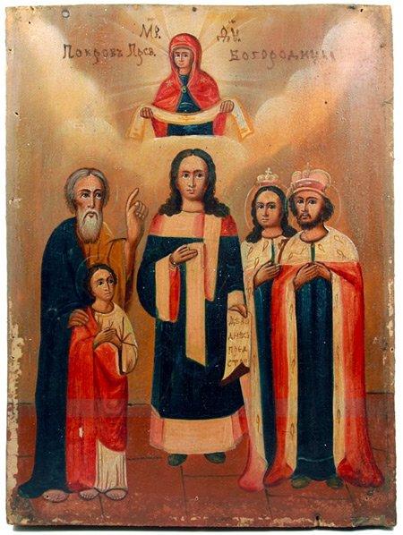 Икона Покров Пресвятой Богородицы, XIX век
