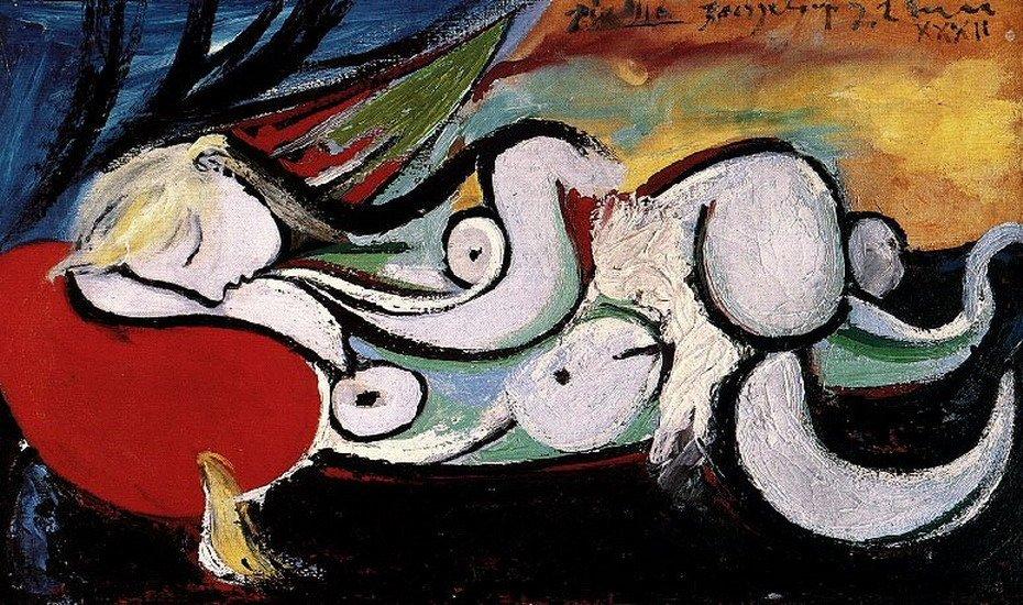 Обнаженная на красной подушке (Мария Тереза), 1932 Медиапроект s-t-o-l.com