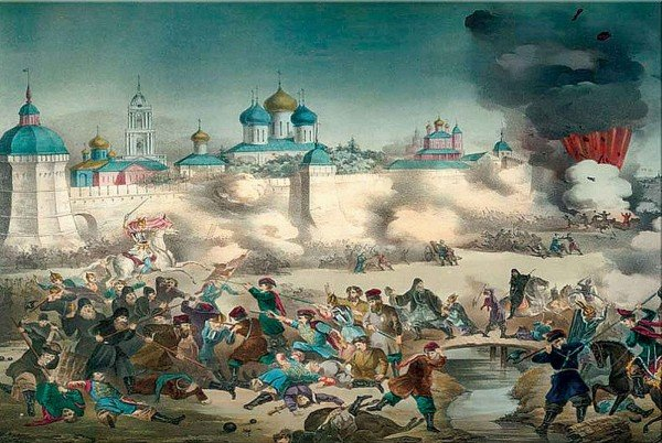 Литограф М. Гадалов, Осада со взрывом, 1853 год Медиапроект s-t-o-l.com
