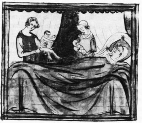 Рождение Иакова (Яакова) и Исава (Эсава). Иллюстрация к манускрипту XIV века Медиапроект s-t-o-l.com