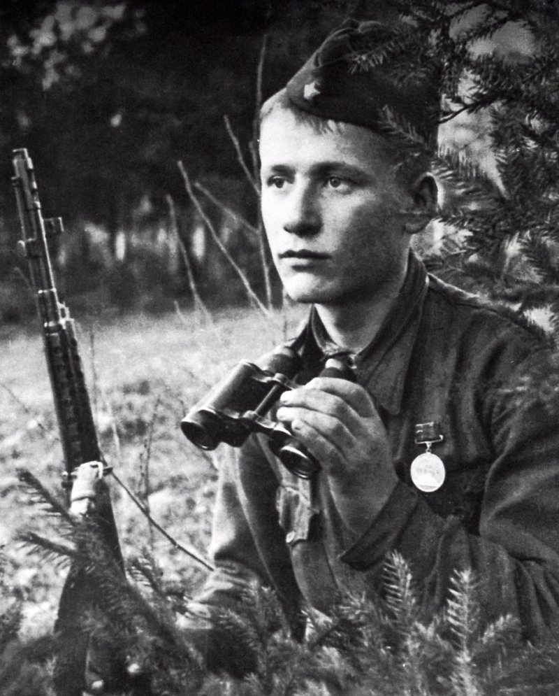 Солдат Алёша. Фамилии не помню. Погиб под Погостьем в 1942 году. Фото Д. Онохина Медиапроект s-t-o-l.com