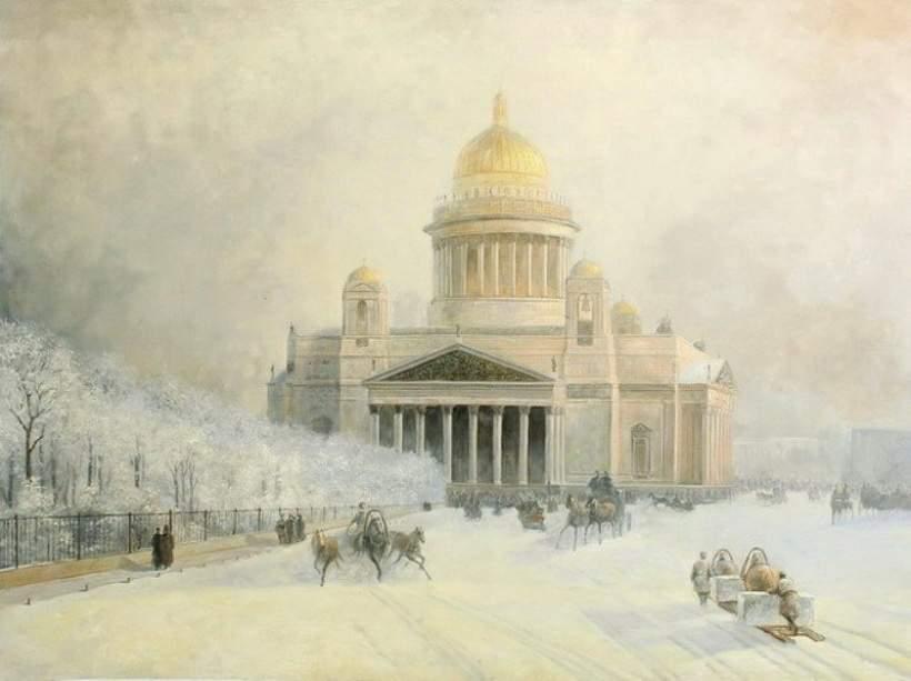 И. Айвазовский. Исаакиевский собор в морозный день. 1891 год Медиапроект s-t-o-l.com