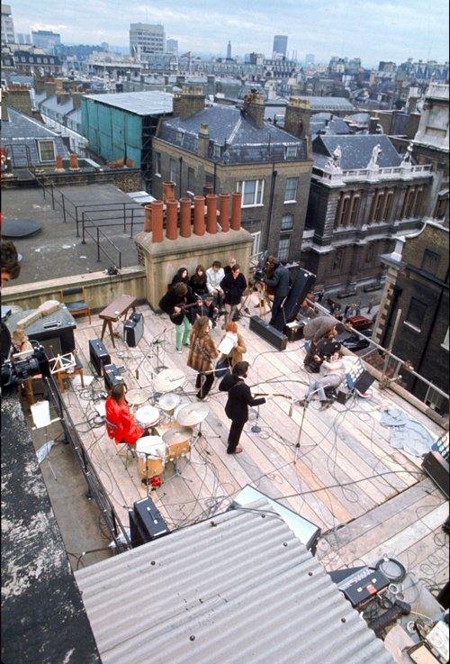 Выступление на крыше дома для фильма Let it be, 1969 год Медиапроект s-t-o-l.com