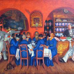 Чайный стол Бориса Кустодиева