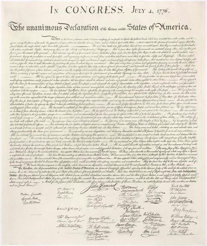 Декларация независимости США 1776 года Медиапроект s-t-o-l.com