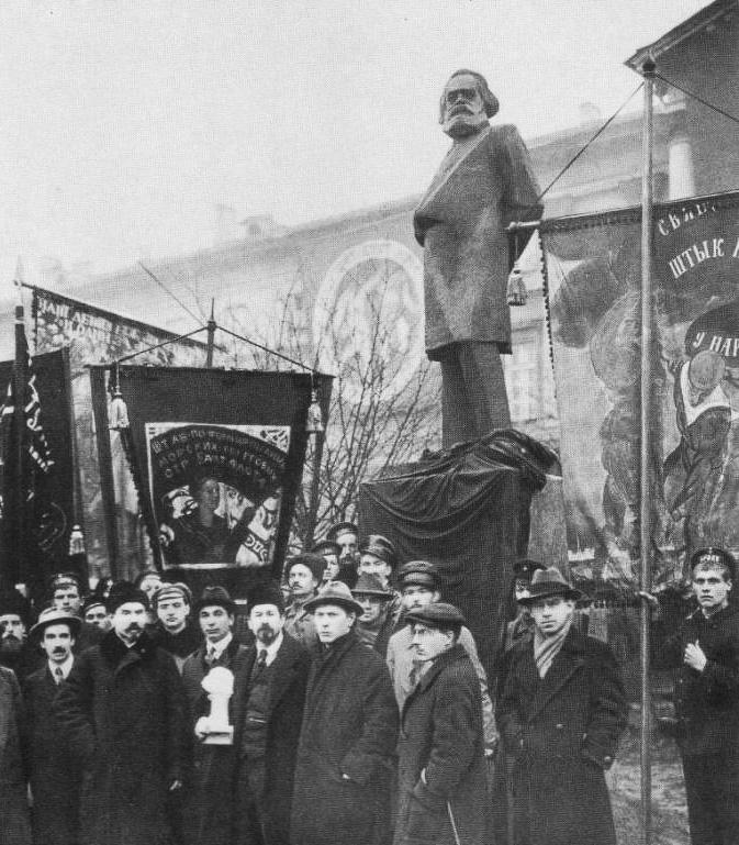 Открытие памятника Карлу Марксу. 1918 год Медиапроект s-t-o-l.com