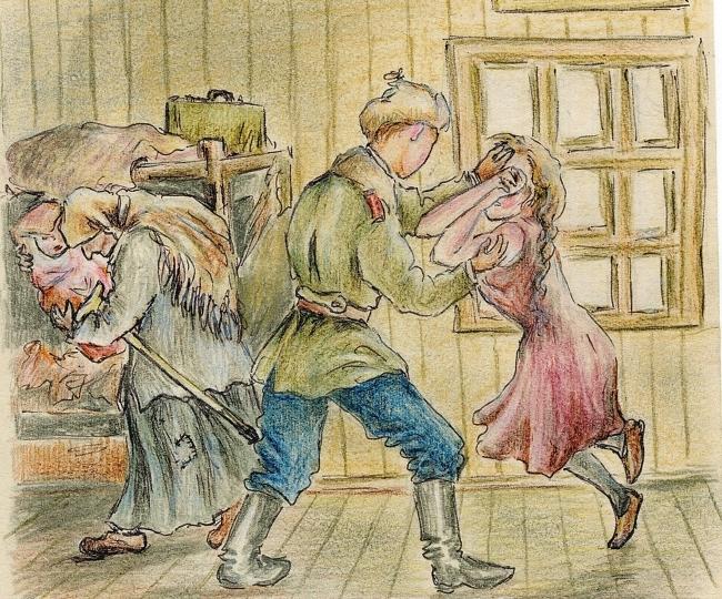 """Иллюстрация: Ефросинья Керсновская. Из книги """"Сколько стоит человек"""" Медиапроект s-t-o-l.com"""