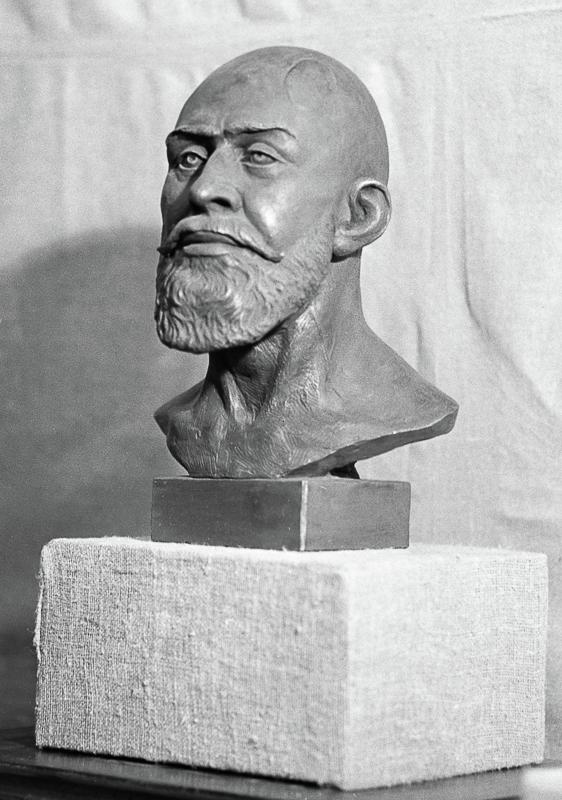 Скульптурный портрет Хаджи-Мурата, восстановленный по костным останкам Михаилом Герасимовы Медиапроект s-t-o-l.com