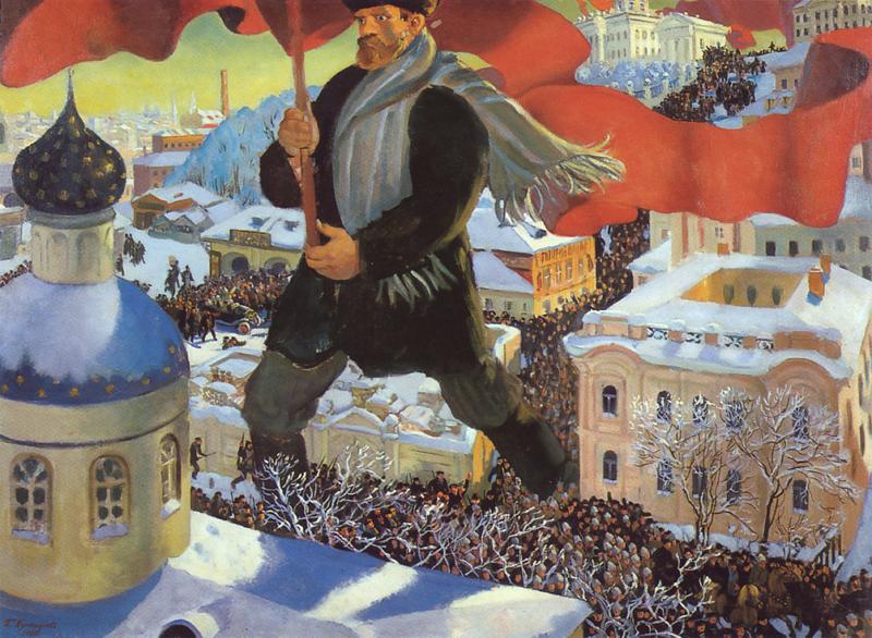 Б. Кустодиев. Большевик. 1920 Медиапроект s-t-o-l.com