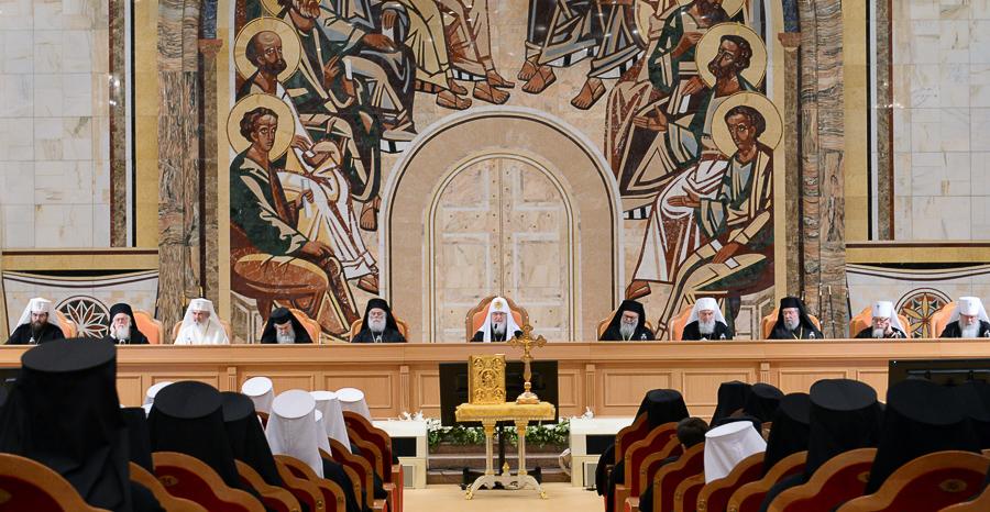 Заключительное торжественное заседание Архиерейского собора РПЦ Медиапроект s-t-o-l.com