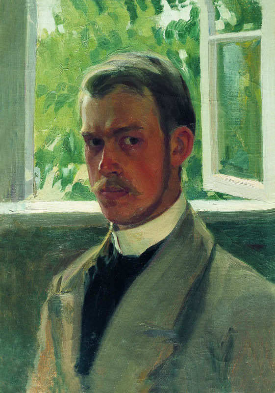 Кустодиев. Автопортрет у окна. 1899 Медиапроект s-t-o-l.com