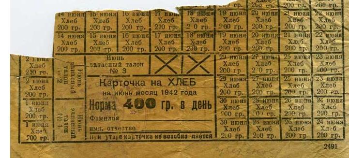 Хлебная карточка в блокадном Ленинграде Медиапроект s-t-o-l.com