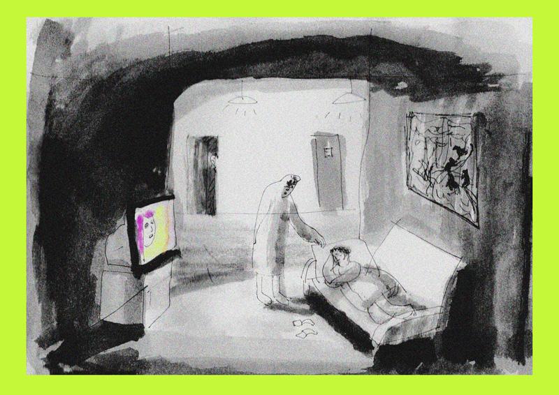 Желтый дом. Иллюстрация: Алёна Терешко Медиапроект s-t-o-l.com