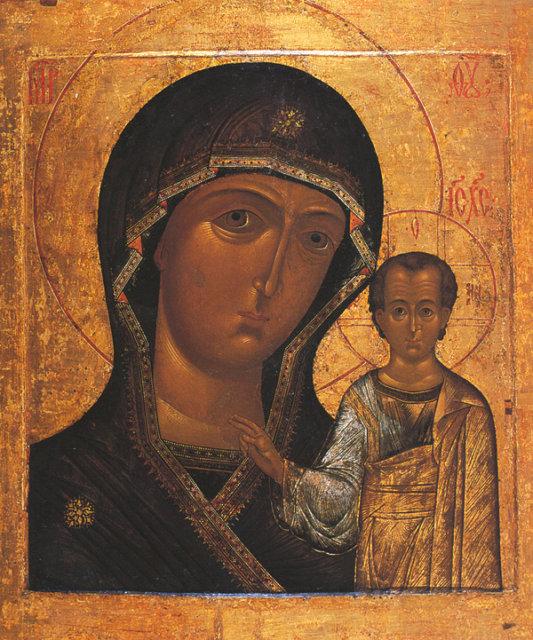 Казанская икона Богоматери с младенцем Медиапроект s-t-o-l.com