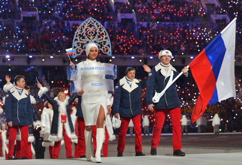 Российская сборная на открытии Олимпийских игр в Сочи. Фото: Алексей Куденко Медиапроект s-t-o-l.com