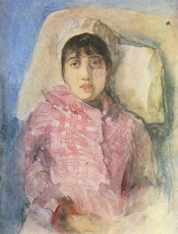 Суриков В.И. Портрет жены, написанный за несколько дней до ее смерти Медиапроект s-t-o-l.com