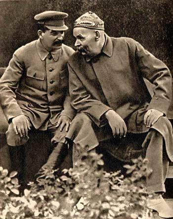 Максим Горький и Сталин, 1931 Медиапроект s-t-o-l.com