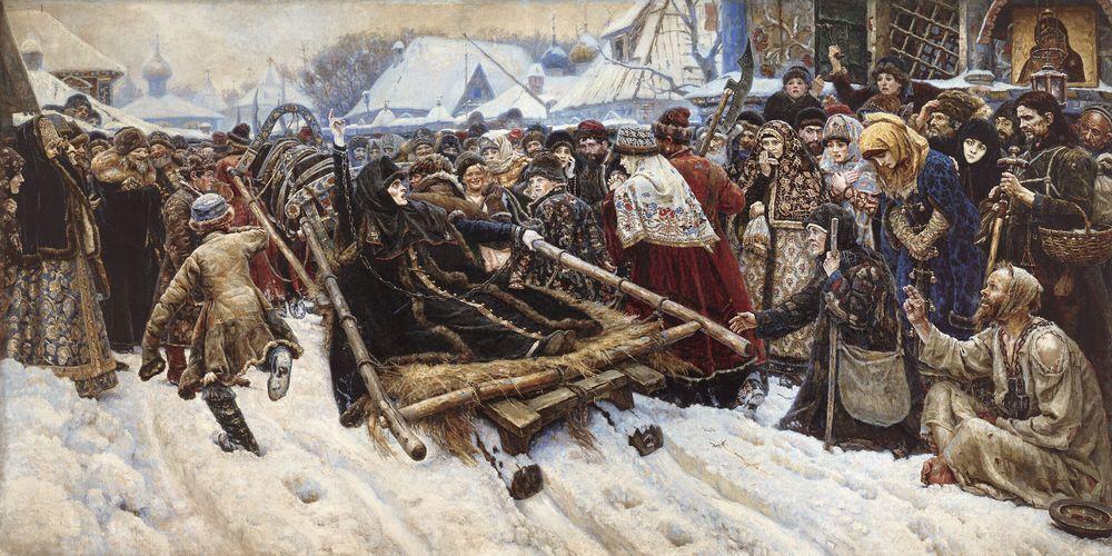 Василий Суриков. Боярыня Морозова. 1887 Медиапроект s-t-o-l.com