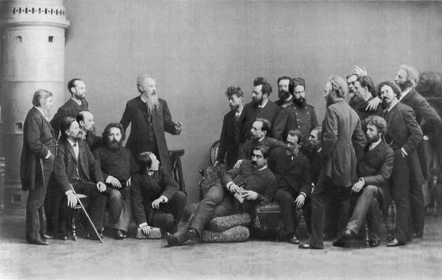 Группа художников Товарищества передвижных художественных выставок. 1885 г Медиапроект s-t-o-l.com