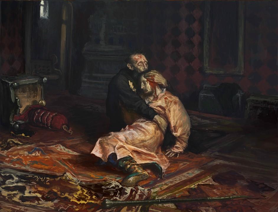 И. Репин. «Иван Грозный и сын его Иван 16 ноября 1581 года»  Медиапроект s-t-o-l.com