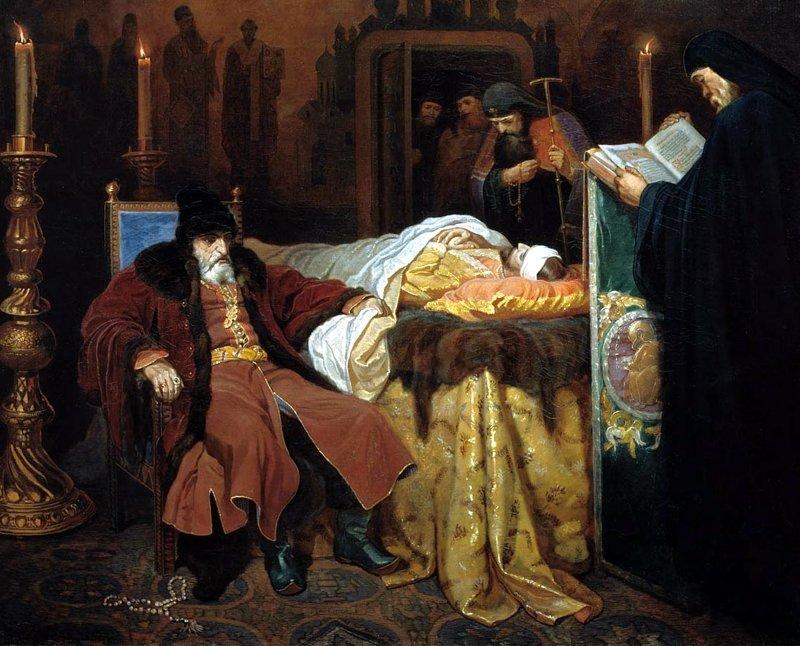 Шварц. Иоанн Грозный у тела убитого сына, 1864 Медиапроект s-t-o-l.com