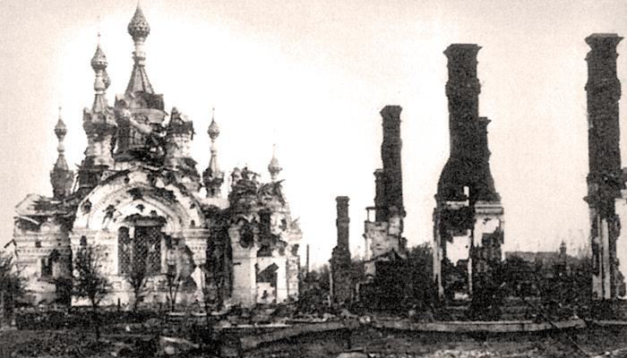 Разрушенная в ходе обстрела церковь Покрова Богоматери на Борисоглебской улице Медиапроект s-t-o-l.com