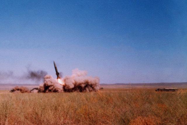 Пуск ракеты на полигоне Сары-Шаган Медиапроект s-t-o-l.com