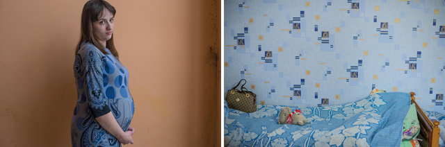 "Слева: Имя? одна из жительниц антикризисного центра. История? Справа: ""Голубая комната"" в антикризисном центре Медиапроект s-t-o-l.com"