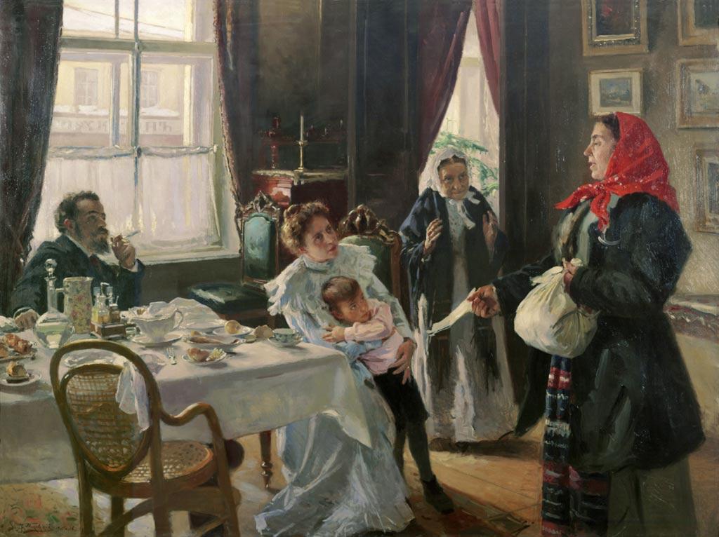 Владимир Маковский. Две матери. Мать приемная и родная, 1906 Медиапроект s-t-o-l.com