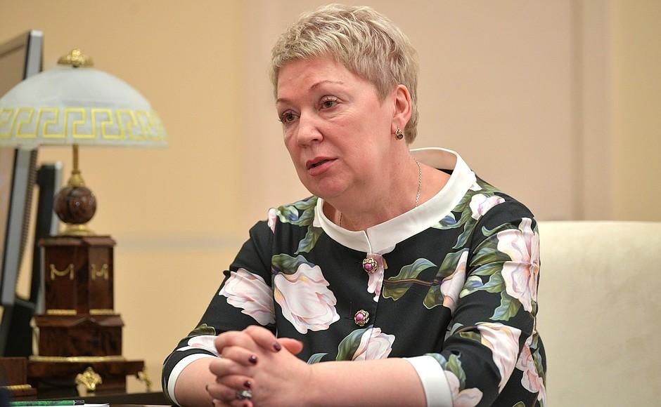Ольга Васильева, министр просвещения РФ Медиапроект s-t-o-l.com